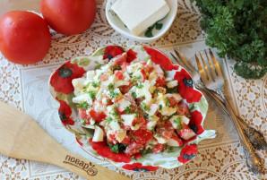 Салат с крабовыми палочками и брынзой - фото шаг 10
