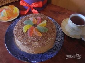 Быстрый торт на сковороде с заварным кремом - фото шаг 18