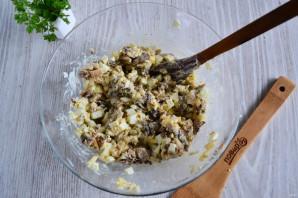 Салат с курицей и шампиньонами - фото шаг 7