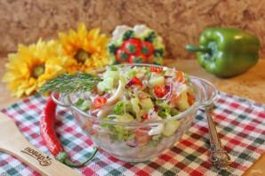 Постный салат с кальмарами - фото шаг 11