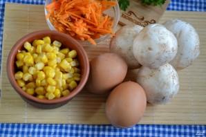 Салат с корейской морковкой и грибами - фото шаг 1