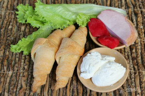 Круассан-сэндвич - фото шаг 1