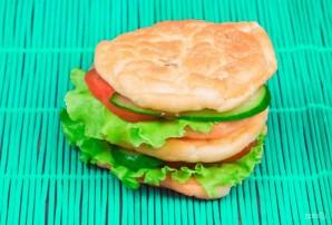 Белковый бургер с овощами - фото шаг 4