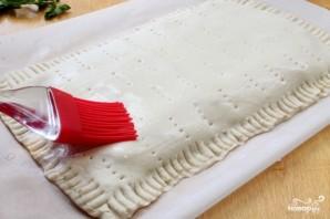 Слоеный пирог с творогом - фото шаг 7