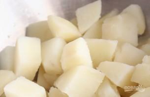 Картофельные уголки с сыром и зеленым луком - фото шаг 2