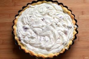 Творожный тарт с малиной - фото шаг 7