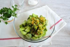 Острые зеленые помидоры с перцем и чесноком - фото шаг 4