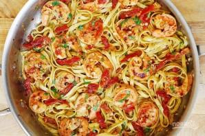 Спагетти с вялеными томатами - фото шаг 5