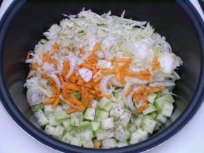 Кабачки, тушеные с овощами - фото шаг 5