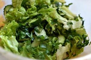 Освежающий салат из огурцов с арахисом - фото шаг 2