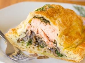 Слоеные пирожки с рыбой, грибами и рисом - фото шаг 4