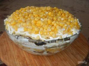 Салат из куриных грудок с грибами - фото шаг 7