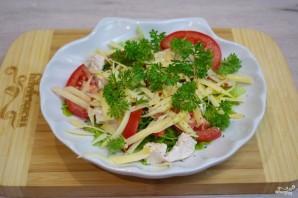 Салат с индейкой и помидорами - фото шаг 4