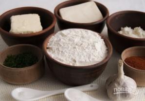 Закуски из тарталеток (с сыром и зеленью) - фото шаг 1