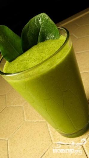 Зеленый витаминный напиток Благо - фото шаг 5