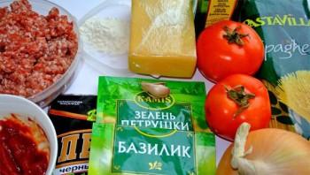 Спагетти с помидорами и фаршем - фото шаг 1