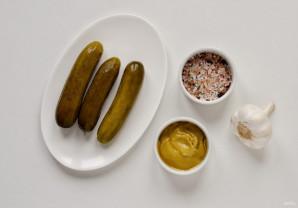 Соус из соленых огурцов и горчицы - фото шаг 1