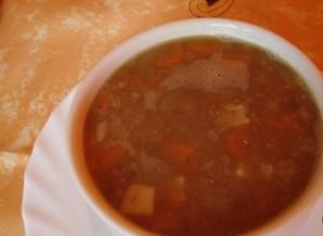 Суп с грибами и чечевицей   - фото шаг 6