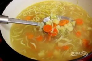 Суп на овощном бульоне - фото шаг 6