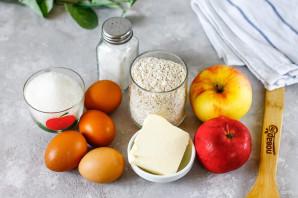 Овсяный пирог с яблоками в мультиварке - фото шаг 1