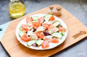 Салат с курицей и сухариками - фото шаг 5