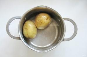 Салат с солеными баклажанами и картофелем - фото шаг 1