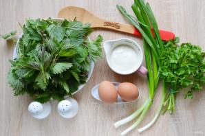 Салат из крапивы - фото шаг 1