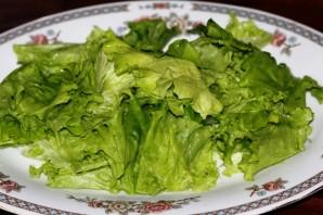 Простой салат с шампиньонами жареными - фото шаг 2