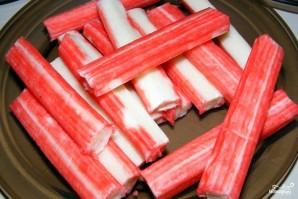 Салат с кальмарами и крабовыми палочками - фото шаг 5