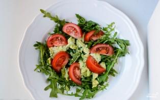 Салат с рукколой и лососем - фото шаг 2