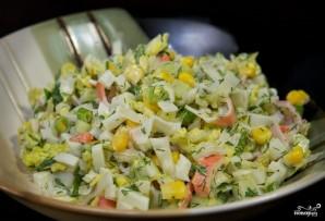 Крабовый салат с пекинской капустой - фото шаг 8