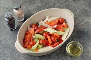 Пеленгас с овощами в духовке