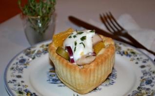 Салат с сыром, апельсином и курицей - фото шаг 10