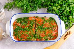 Засолка красной рыбы с укропом