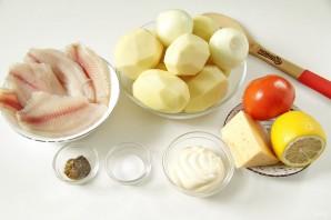 Тилапия в духовке с картошкой - фото шаг 1