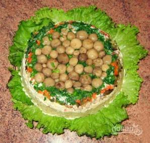 "Салат ""Полянка"" с грибами - фото шаг 8"