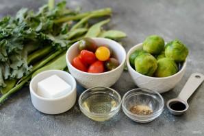 Салат с брюссельской капустой и стручковой фасолью - фото шаг 1