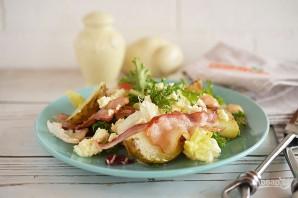 Теплый салат с картофелем и беконом - фото шаг 5