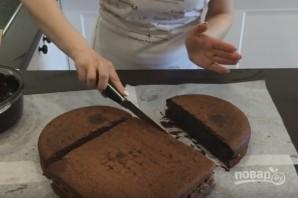 Торт в виде сердца без формочки - фото шаг 6