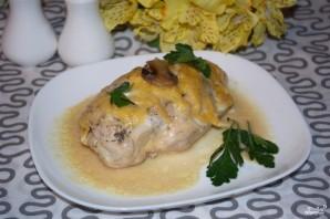 Мясо с шампиньонами в духовке - фото шаг 6