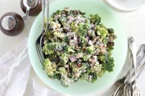 Салат с брокколи и беконом - фото шаг 4