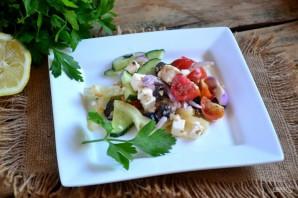 Греческий салат классический - фото шаг 10