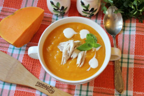 Тыквенный суп-пюре с мясом - фото шаг 10