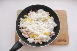 Китайский жареный рис с курицей - фото шаг 11