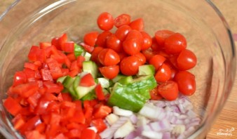 Итальянский салат с пастой - фото шаг 2