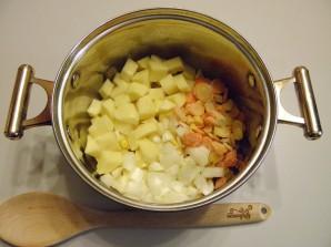 Суп с копченой колбасой - фото шаг 1
