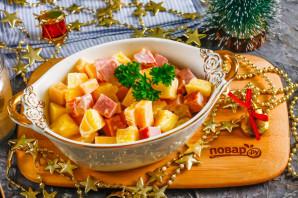 "Новогодний салат ""Три в одном"" - фото шаг 6"