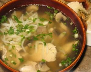 Китайский суп с курицей - фото шаг 5