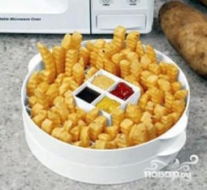 Картофель фри в микроволновке - фото шаг 4