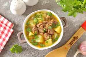 Диетический суп на говяжьем бульоне